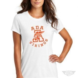 DogDayz Apparel - Tee - Ada Vikings - Women - White