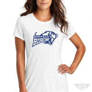 DogDayz Apparel - Tee - Buffalo Bison - Women - White