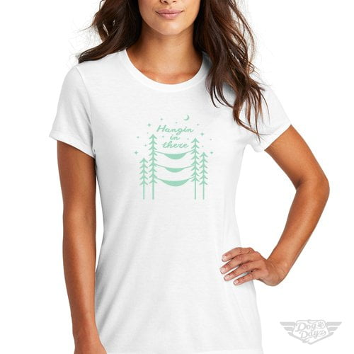 DogDayz Apparel - Tee -Hangin In There - Women - White