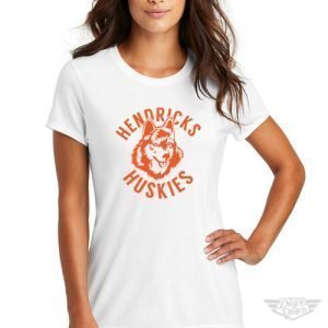 DogDayz Apparel - Tee - Hendricks Huskies - Women - White