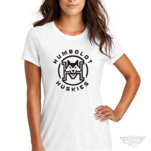 DogDayz Apparel - Tee - Humboldt Huskies - Women - White