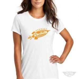 DogDayz Apparel - Tee - Kennedy Rockets - Women - White