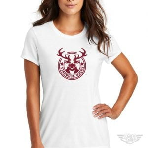 DogDayz Apparel - Tee - Starbuck Bucks - Women - White
