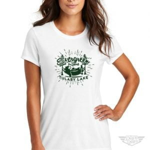 DogDayz Apparel - Tee - Tulaby Evergreen - Women - White