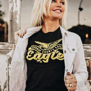 DogDayz Apparel - Tee - Norman County East Eagles - Women - Black