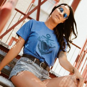 DogDayz Apparel - Tee -Booze Cruise - Women - Royal Frost