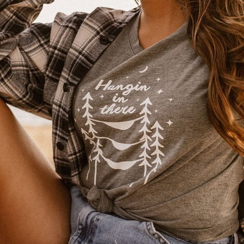 DogDayz Apparel - Tee -Hangin In There - Women -