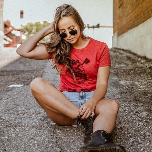 DogDayz Apparel - Tee -Beer Dart - Women - Classic Red