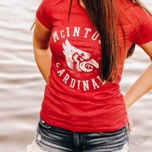 DogDayz Apparel - Tee - McIntosh Cardinals - Women - Red Frost