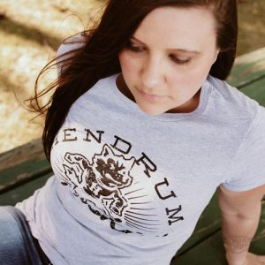 DogDayz Apparel - Tee - Hendrum Huskies - Women - White