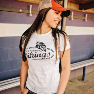 DogDayz Apparel - Tee - Hitterdal Vikings - Women - White