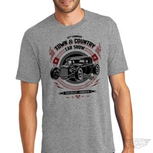 DogDayz Apparel - Tee - Town & Country Car Show - Men - Grey
