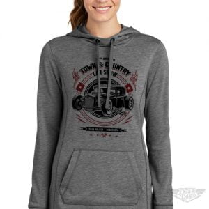 DogDayz Apparel - Sweatshirt - Town & Country Car Show - Women - Grey