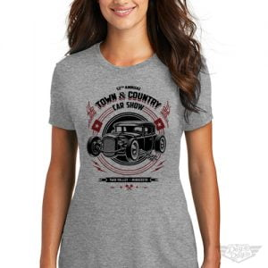 DogDayz Apparel - Tee - Town & Country Car Show - Women - Grey